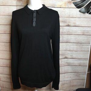 Lululemon black wool blend sweater size M